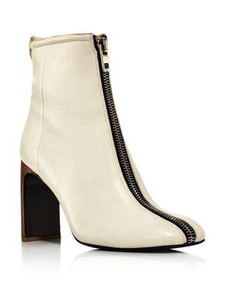 bone Women's Ellis Zip Front Boots