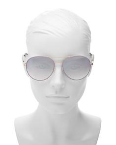 kate spade new york - Women's Joshelle Mirrored Brow Bar Aviator Sunglasses, 60mm