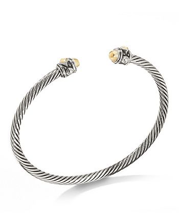 David Yurman - Renaissance Bangle Bracelet in Sterling Silver & 18K Yellow Gold
