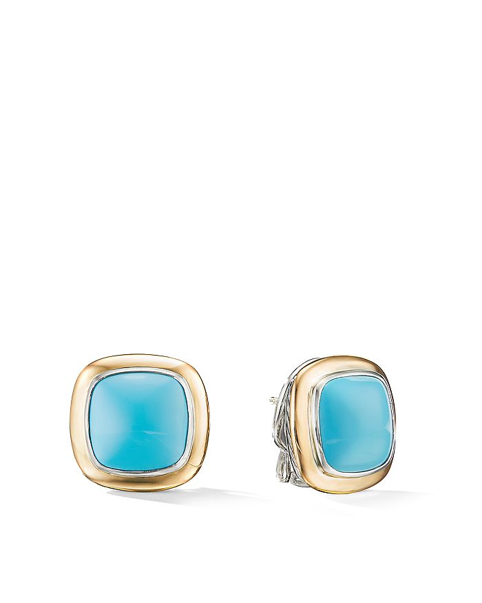 David Yurman - 18K Yellow Gold & Sterling Silver Albion Stud Earrings with Gemstones