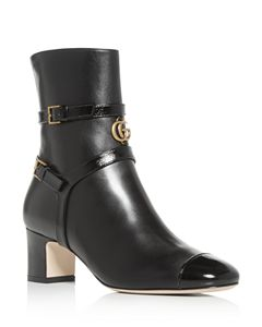 3e071eddb Gucci Women's G Brogue Leather Ankle Boots   Bloomingdale's