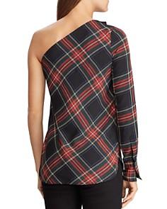 Ralph Lauren - Plaid One-Shoulder Top