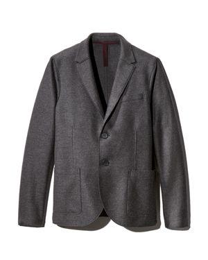 HARRIS WHARF Compact-Wool Regular Fit Blazer in Charcoal