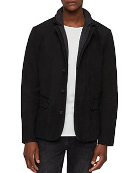 ALLSAINTS - Survey Classic Fit Layered-Collar Leather Blazer