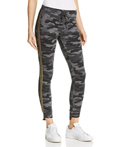 Sundry - Track Stripe Camo Sweatpants