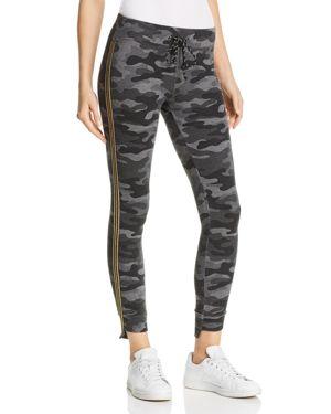 Sundry Track Stripe Camo Sweatpants