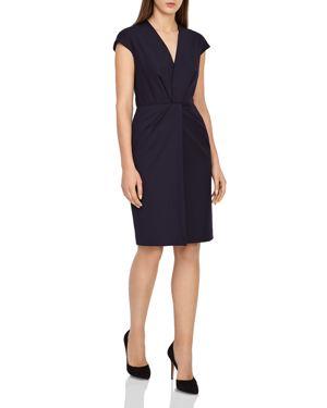 Fenton Tailored Dress, Navy