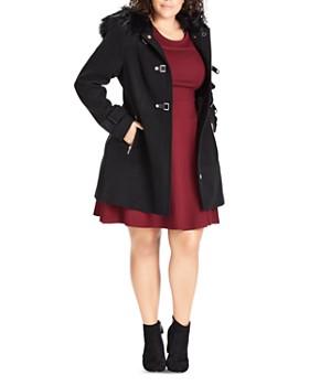 City Chic Plus - Wonderwall Hooded Coat