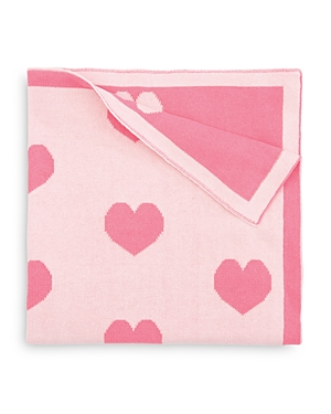 Elegant Baby Girls' Heart-Print Blanket