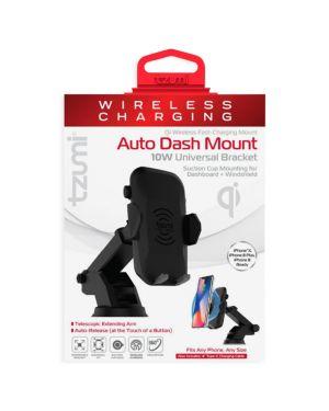TZUMI Wireless Charging Auto Dash Mount in Black