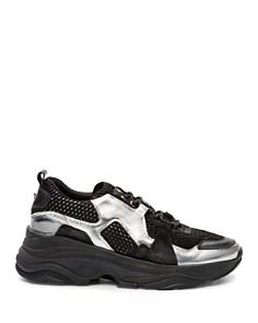 The Kooples - Women's Mixed Leather Platform Sneakers