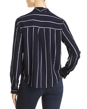Rails -  Ava Metallic Striped Tie-Front Top