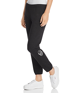Monrow SKULL EMBROIDERED SWEATPANTS