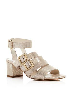 BETTYE MULLER Women'S Tingle Chunky Heel Metallic Sandals in Gold