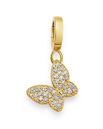 Roberto Coin - 18K Yellow Gold Diamond Butterfly Charm