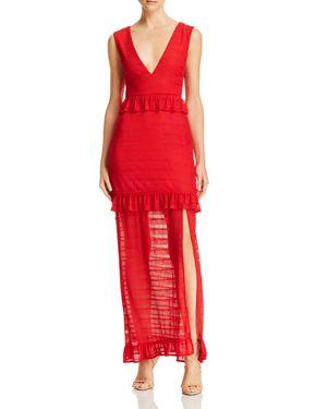 NIGHTWALKER Elsa Chevron Maxi Dress - 100% Exclusive in Cherokee Red