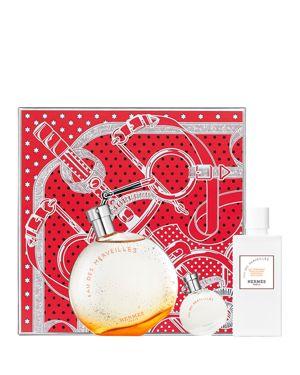 HERMES Limited Edition F & #234Tes En Herm & #232S Eau Des Merveilles Gift Set, Eau De Toilette