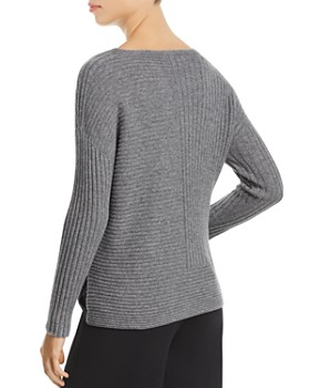 Eileen Fisher Petites - Cashmere Directional Ribbed Sweater - 100% Exclusive