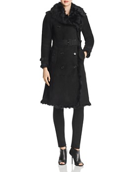 Burberry - Tolladine Shearling Trench Coat
