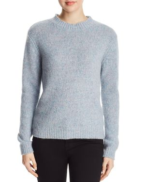 MAJESTIC Speckled Cashmere Sweater in Blue