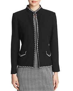 Misook - Honeycomb Border-Trim Blazer