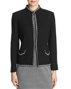 Misook Honeycomb Border-Trim Blazer