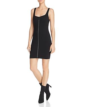 Guess Mira Zip-Front Body-Con Dress