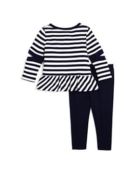 Splendid - Girls' Striped Cutout Sweatshirt & Leggings Set - Baby
