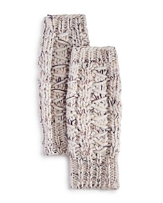 AQUA - Chunky Rib-Knit Arm Warmers - 100% Exclusive