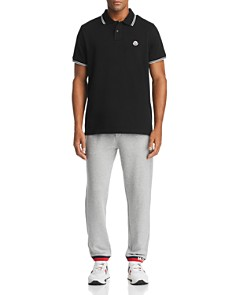 Moncler - Tipped Polo Shirt & Logo Cuffed Sweatpants