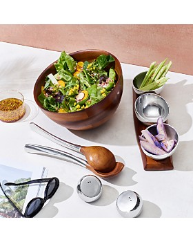 Nambé - Luna Salad Bowl & Servers  - 100% Exclusive