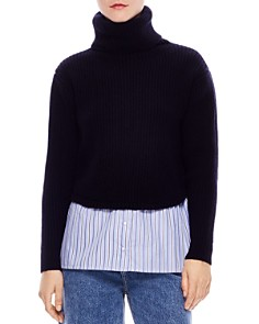 Sandro - Calament Layered-Look Sweater