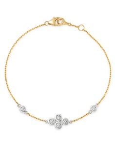 Bloomingdale's - Diamond Bezel Set Bracelet in 14K White and Yellow Gold, 0.30 ct. t.w. - 100% Exclusive