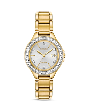 Crystal Eco-Drive Gold-Tone Watch