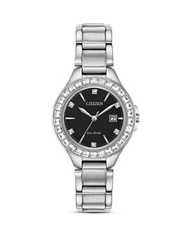 Citizen - Crystal Eco-Drive Silver-Tone Watch, 31mm