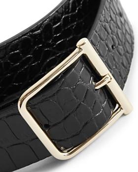REISS - Billy Croc-Embossed Leather Belt