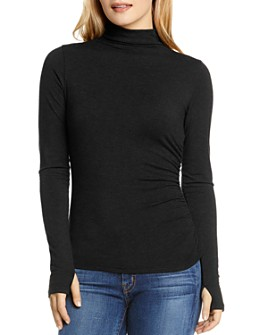 Michael Stars - Ruched Mock Neck Top
