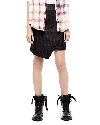 Zadig & Voltaire - Just Draped Pinstripe Skirt