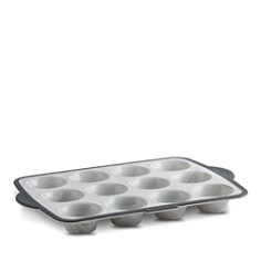 Trudeau - Structured Silicone Marble Muffin Pan, 12-Piece