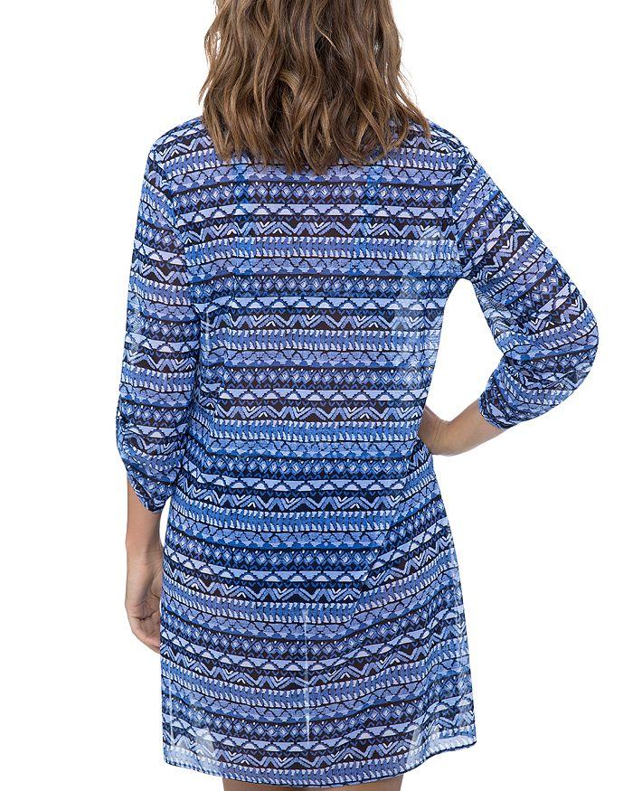 784cba7199 Profile by Gottex Folklore Mesh Shirt Dress Swim Cover-Up ...