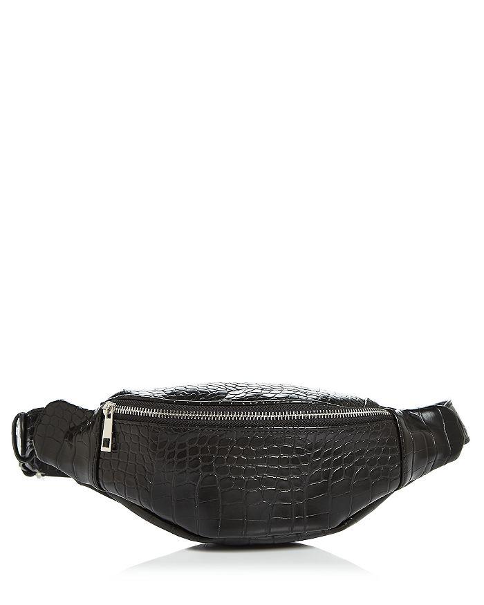 AQUA - Croc-Embossed Belt Bag - 100% Exclusive