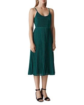 Whistles - Regina Pleated Sparkle Dress