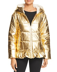 kate spade new york - Metallic Puffer Jacket