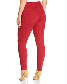 Lyssé Plus - Toothpick Cropped Legging Jeans in Red Dahlia