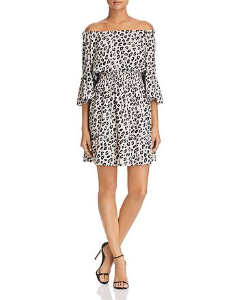 Le Gali - Helene Leopard Off-the-Shoulder Dress - 100% Exclusive