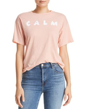 MICHELLE BY COMUNE Michelle By Comune Calm Graphic Tee in Frosted Rose
