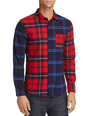 Tommy Jeans Patchwork Check Flannel Regular Fit Shirt
