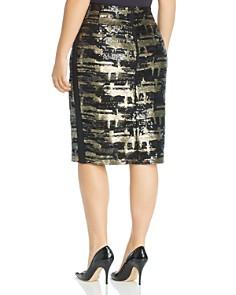 Marina Rinaldi - Canarino Sequined Pencil Skirt