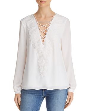 Wayf Posie Lace-Up Top
