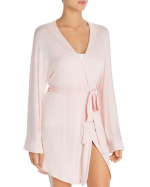 HONEYDEW Short Robe in Glisten